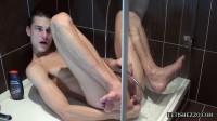 Enema in shower cabin