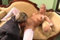 Slut shows her stuff in the first day
