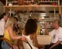 Public sex in a bar
