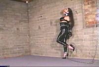 Struggling to escape from super tight bondage