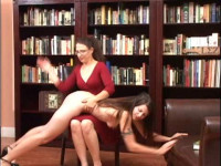 Over the knee spanking over AnnÕs panties gives way to bare bottom