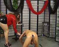 The nasty old worm servicing this young domme has fucked things up again and needs being punished sev