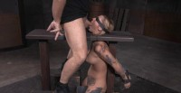 Kleio Bound On Sybian With Drooling Destroyed Deepthroat!