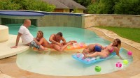 Christen Courtney, Alice — Fantastic Five — Two Babes Fucked By Three Studs At The Pool