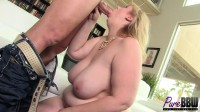 Beautiful blonde amazon BBW Lila loves sex