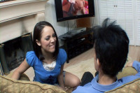 Teen Kristina fucked by dirty step-dad