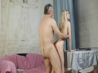 Mature man fucks young slut