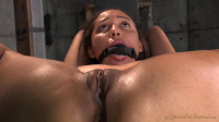 Little spinner Tinslee Reagan belted down, ballgagged, vibrated fucked hard big cocks! (2014)
