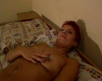 Lonely slut and her pussy