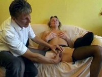 Blond bitch pleasuring