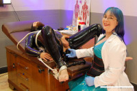 Download Kinky Latex Prostate Exam - Electric CBT Milking with Doctor Alice