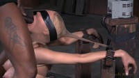Big breasted blonde Rain DeGrey belted down on fucking machine with drooling deepthroat on BBC!
