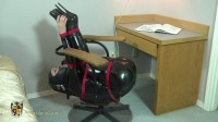 Femcar Bound in Gords Famous Office Chair Nov30 2013