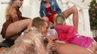 Pretty In Pastel Piss And Swap Freaks Get Their Holes And Clothes Soaked To Slipperysm