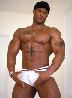 Muscle Hunks - B-Rock solo Part 1 - Ebony Adonis