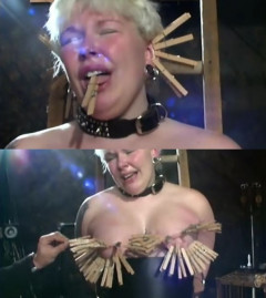 BrutalMaster - Clips On Her Tits