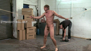 John4-l - Bound spread eagle and thrashed with a flogger till raw and screaming