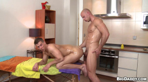 RubHim - Man On Man Anal Massage - Greg and Just Angelo
