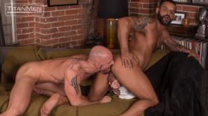 Silverlake: Mitch Vaughn rides David Benjamin's hairy muscle ass