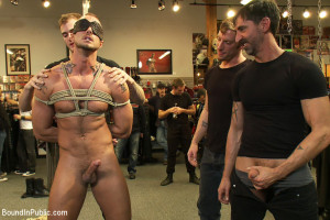 Jessie Colter gets gang banged at Mr S Leather store
