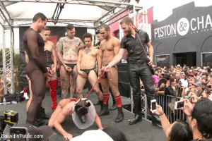 Public Whore Doused with Piss on the Folsom Stage