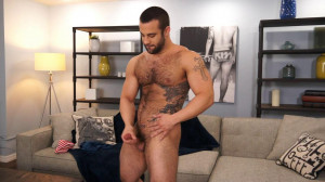 Dex Hammer is hung, furry and horny