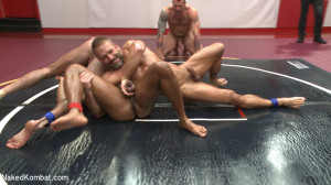 Muscle on Muscle: Live Tag Team Oil Match Between 4 Ripped Hunks!