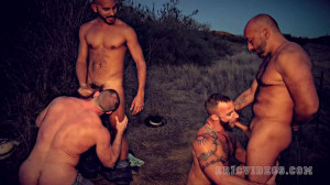 Hitchhiking slut (Antonio Biaggi, Brian Davilla, Derek Parker, Shay Michaels)
