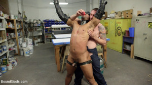 Zapped, Beaten & Fucked! - Lazy Shop Worker Takes His Punishment