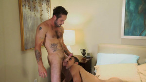Dominic Santos breaks in bisexual boy, Jeff Powers with a bareback fuck