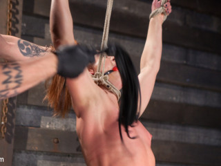Flamy Red Head in Bondage, Tortured and Spunking like a Whore