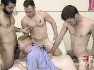 Rock hard Group sex For Sexy Redhead Superslut