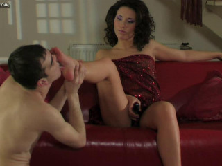 Active and Colin  Foot going knuckle deep for an anxious slave