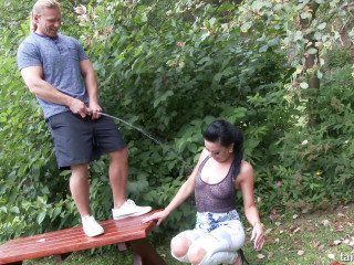 Pissing Act In The Garden
