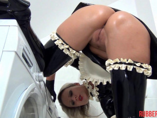 Horny Rubber Maid, Finger, Dildo, Blow-Up Rubber hood Part One (2014)