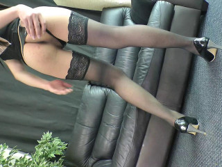 Luxurious Patty Strokes Her Enormous Cock!