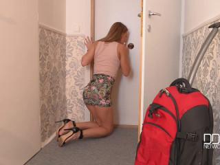 Mysterious Door - A Towheaded Babe's Glory Crevasse Escapade
