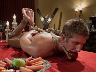 Classic archive shoot! slaveboy for dinner!