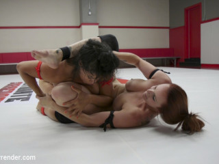 Sexy meaty Tittied Wrestlers Fight to make each other jizz