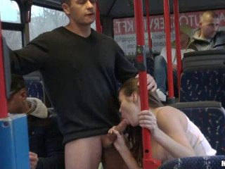 Stuck to the beauty of the bus and humped her hot