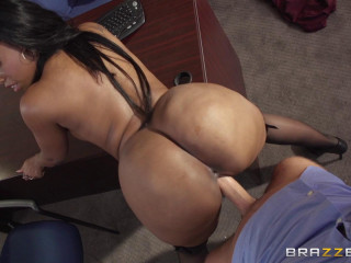 He Couldn't Resist The Secretary With Giant Boobs