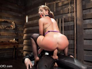 Ample Caboose Dp Spraying Restrain bondage Slave, Savannah Fox