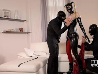 Mystery Masks - Spandex Liking Threesome For Fetish Paramours