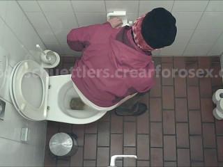 Public wc voyeur fledgling urine and scat