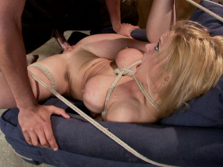 Ash-blonde big boobs butt screwed in taut restrain bondage Darling Mickey Modq