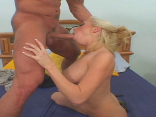 Blonde's spouse surprises with a hard-core fuckin'