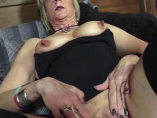 enormous titty british mummy in high heel going knuckle deep herself rock-hard in her couch