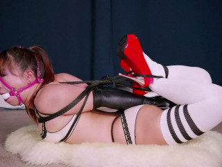 Restrained Senses - Mina's Hog-tie Instructing Proceeds