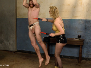 Pretty man marionette abjected and pegged by Mistress Virgin Torn!
