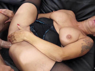 Shadow - Italian stallion fucking a big-titted and bodacious blond granny (2017)